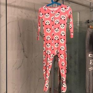 Carters panda toddler one piece pajama sz 3t